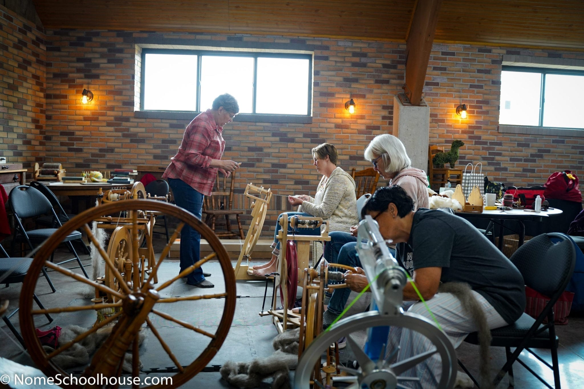 Spinning Classes at Nome Schoolhouse Nome North Dakota